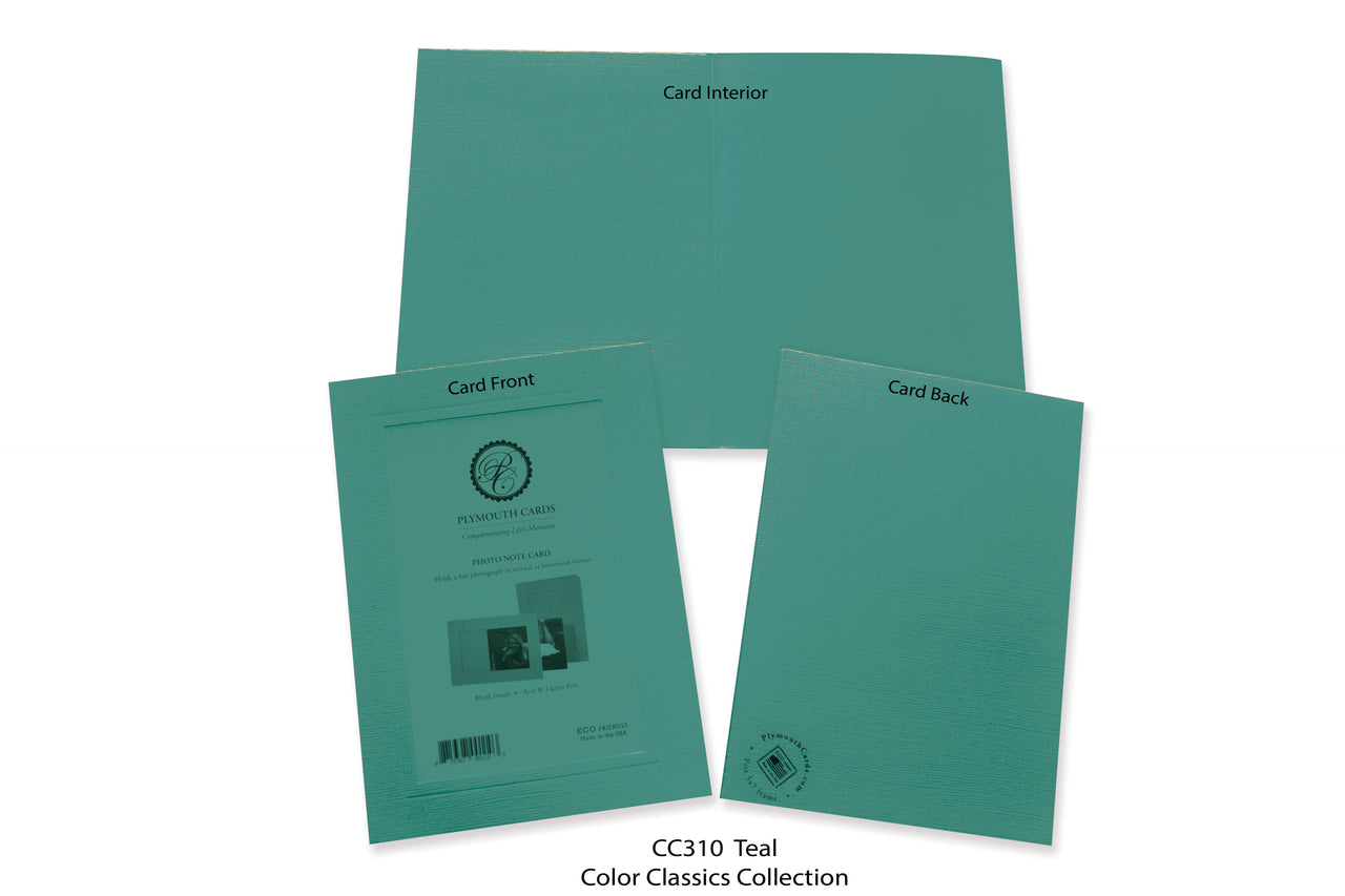 Teal Photo Insert Note Cards - Color Classics collection (color #CC310)