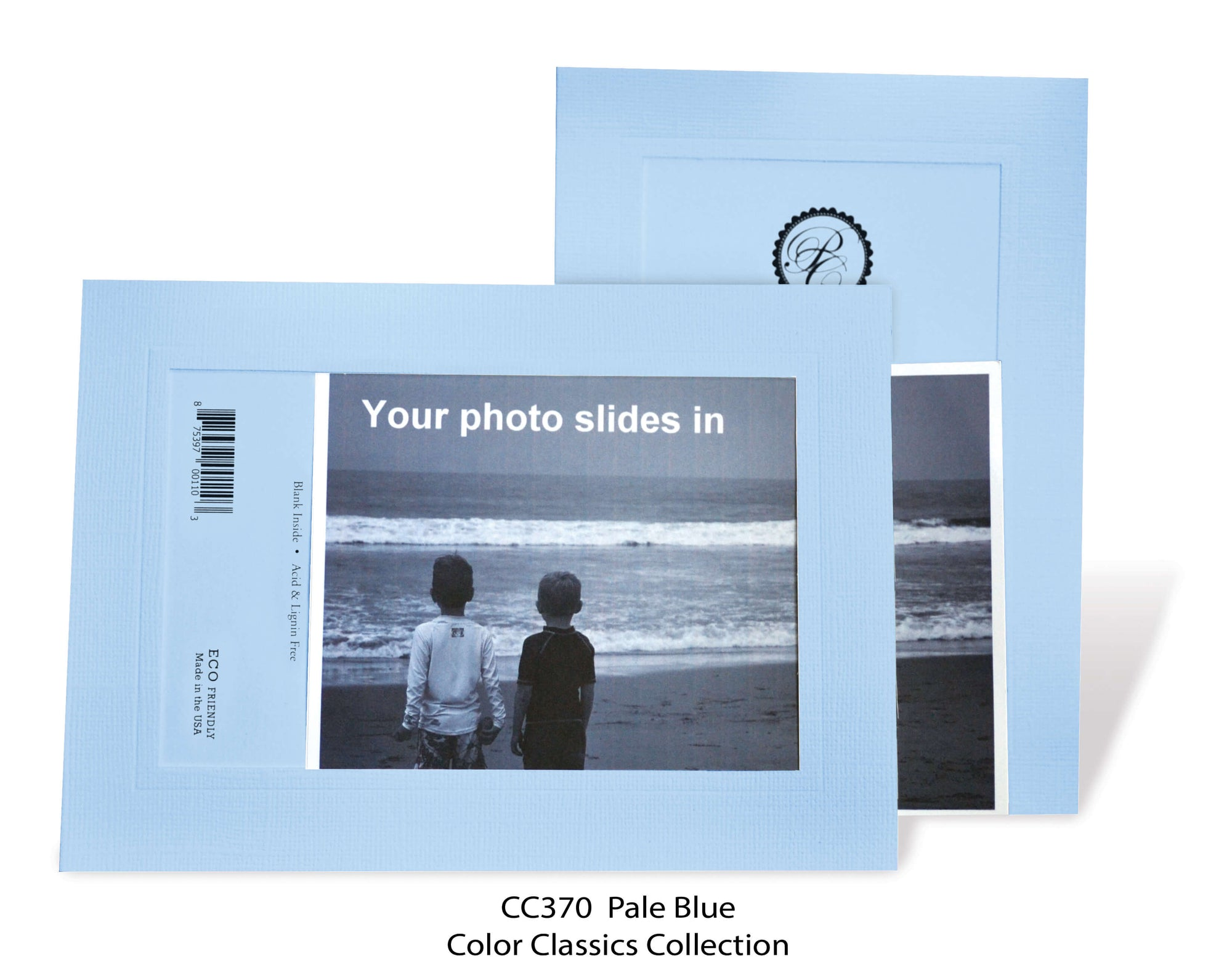 Pale Blue #CC370-Photo note cards-Plymouth Cards
