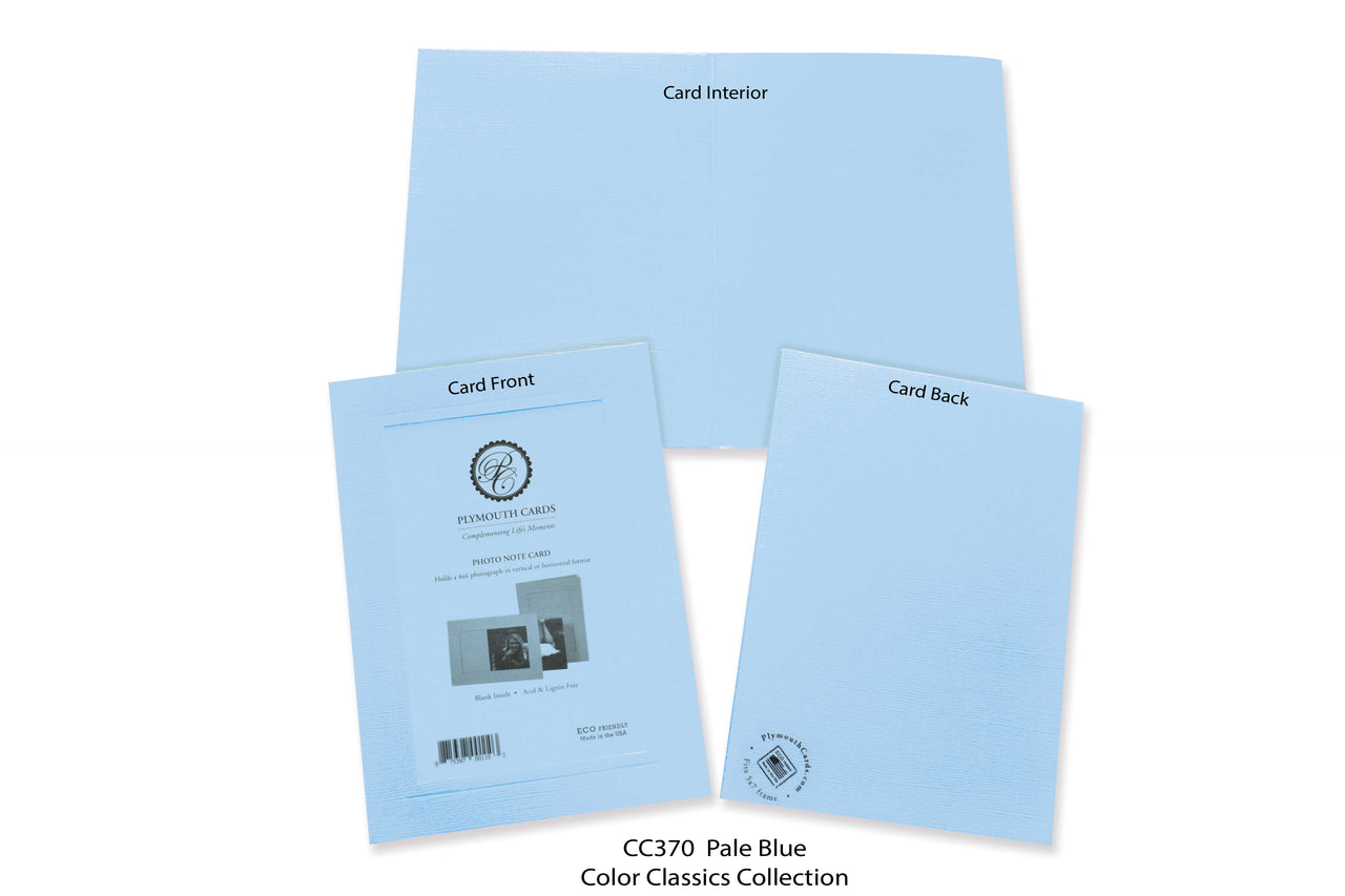 Pale Blue Photo Insert Note Cards - Color Classics collection (color #CC370)