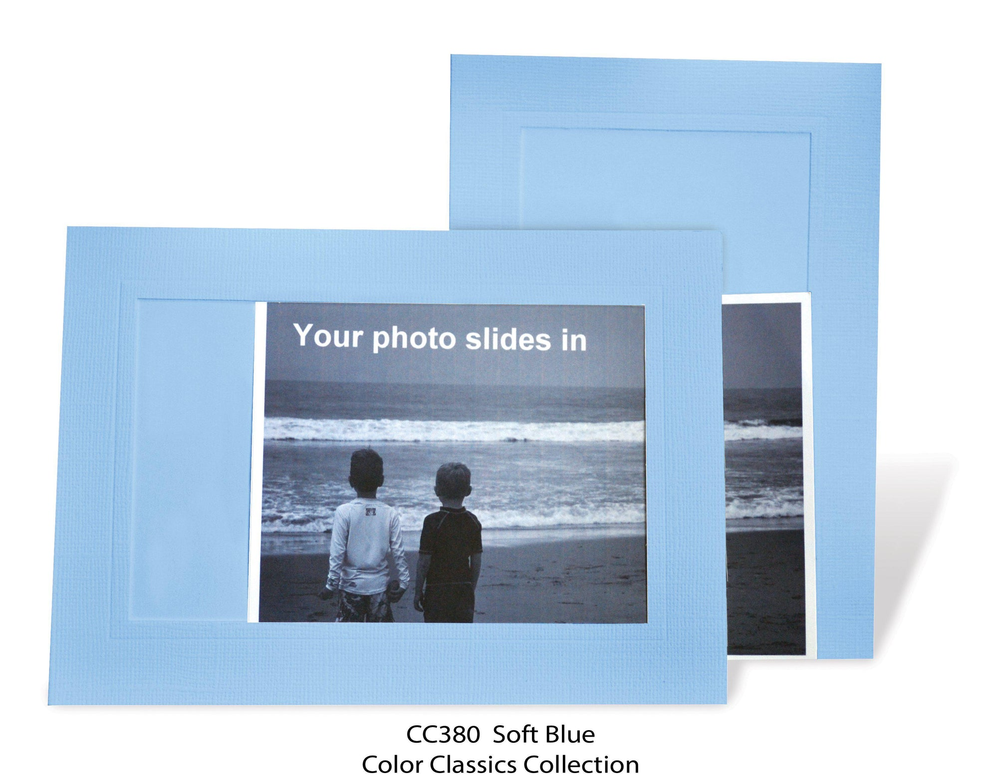 Soft Blue #CC380-Photo note cards-Plymouth Cards