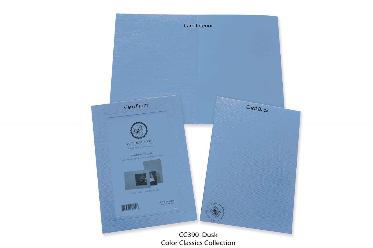 Dusk Photo Insert Note Cards - Color Classics collection (color #CC390)