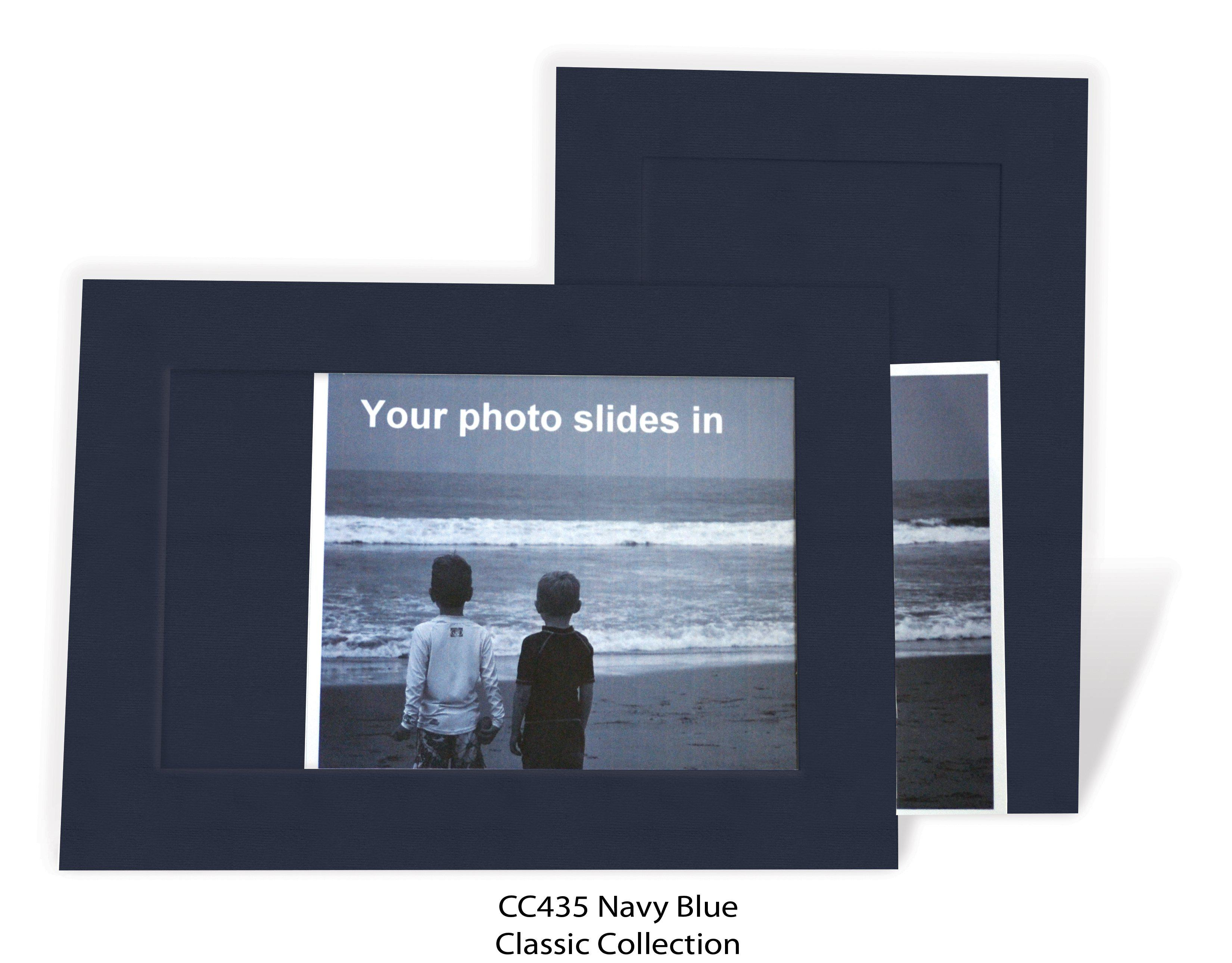Navy Blue #CC435-Photo note cards-Plymouth Cards