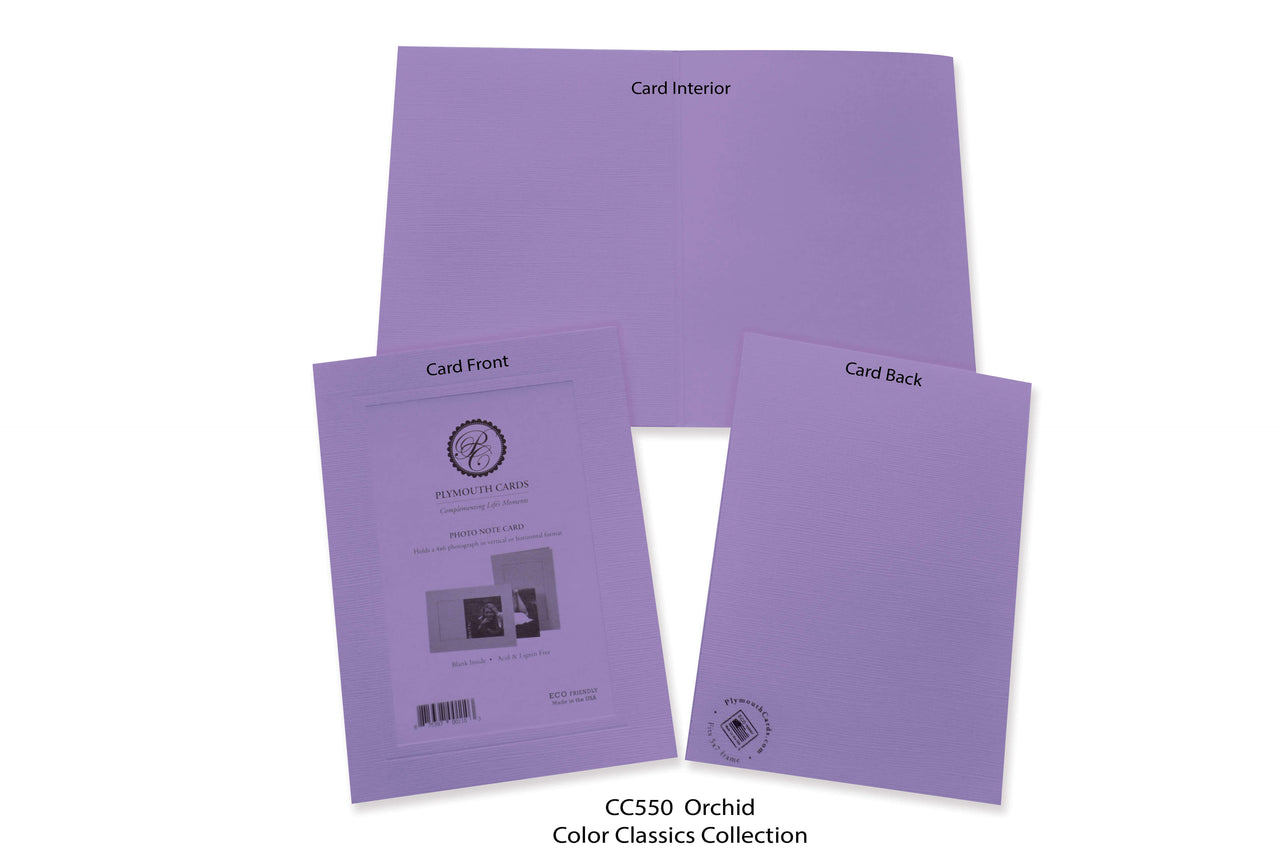 Orchid Photo Insert Note Cards - Color Classics collection (color #CC550)