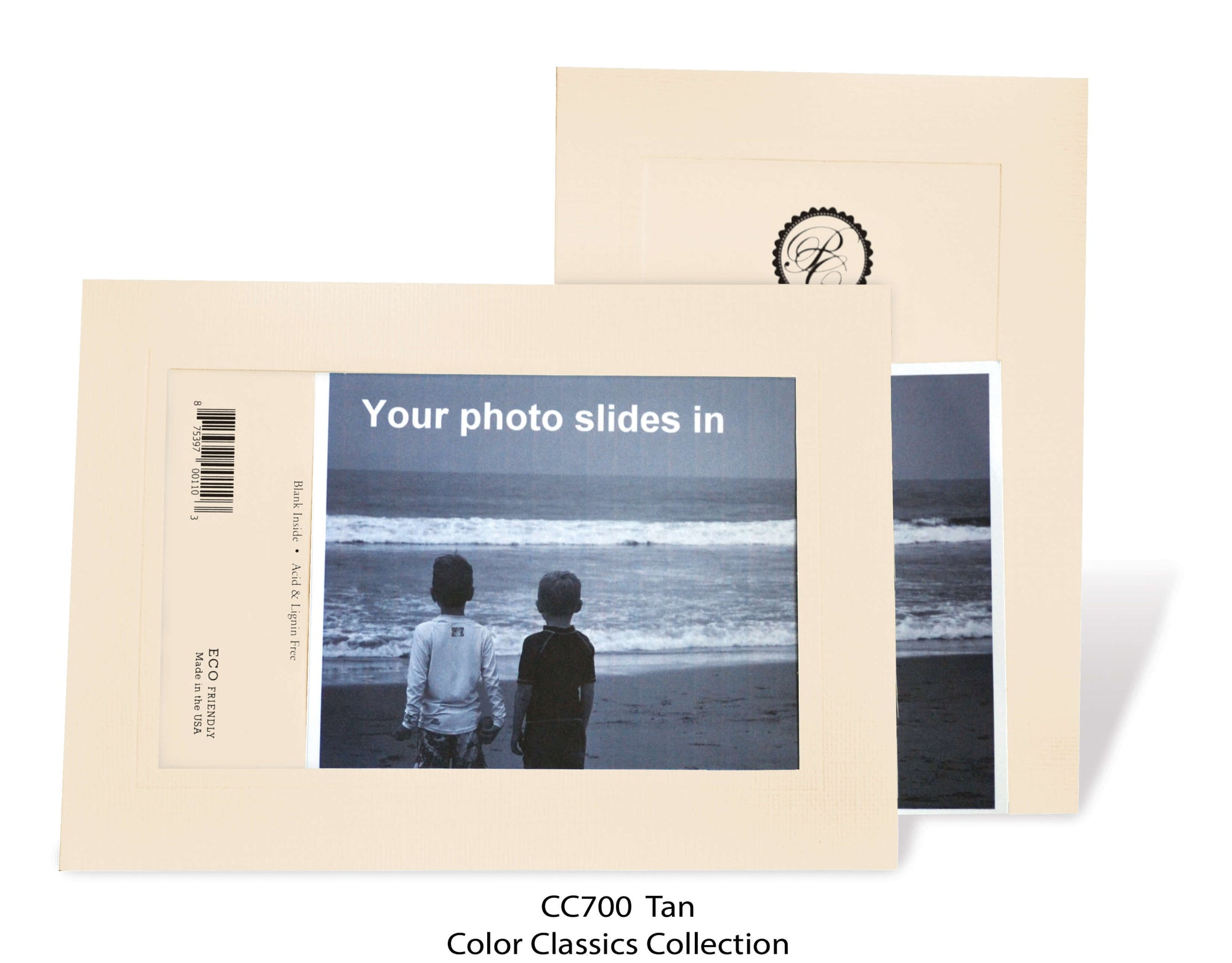 Tan #CC700-Photo note cards-Plymouth Cards