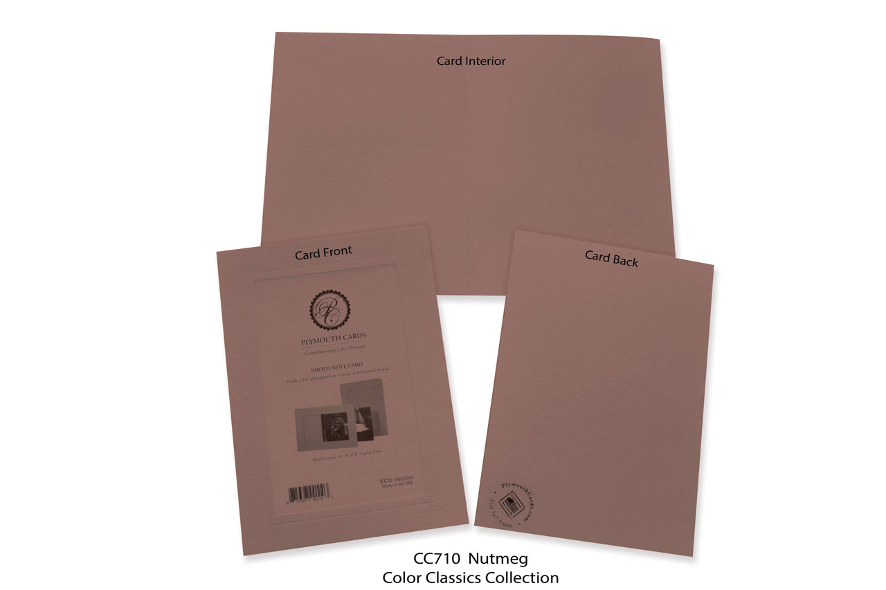 Nutmeg Photo Insert Note Cards - Color Classics collection (color #CC710)