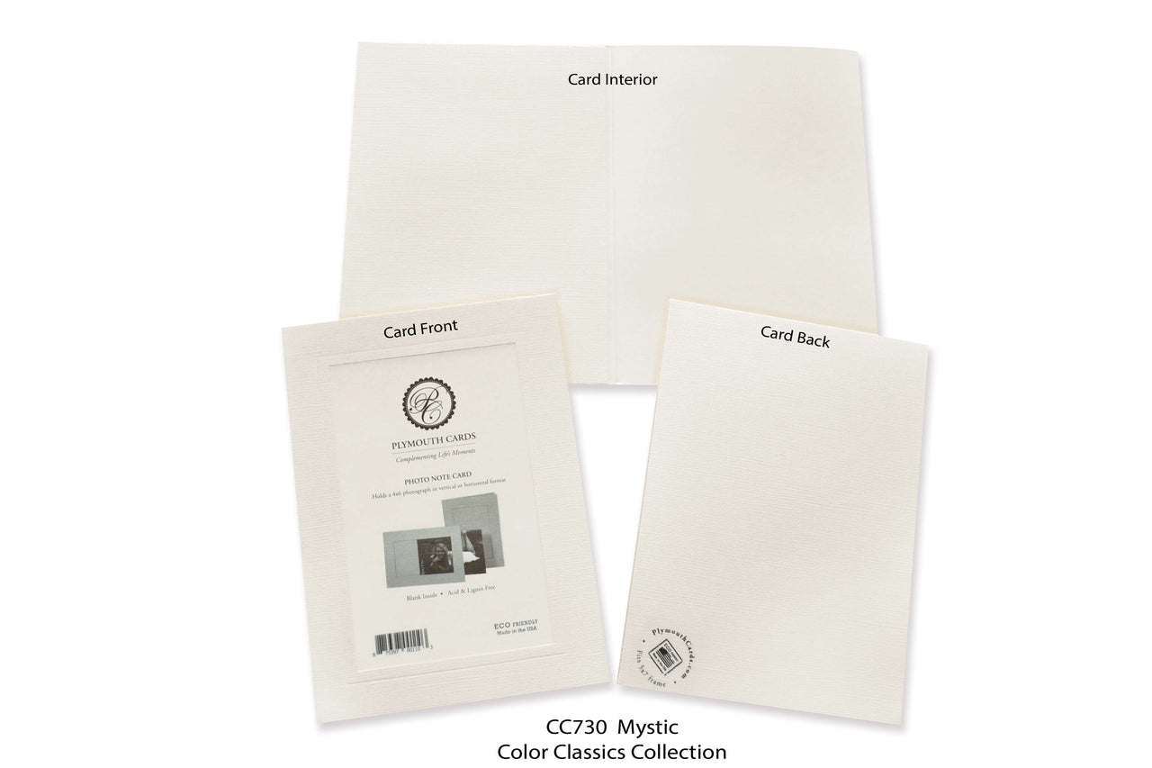 Mystic Photo Insert Note Cards - Color Classics collection (color #CC730)