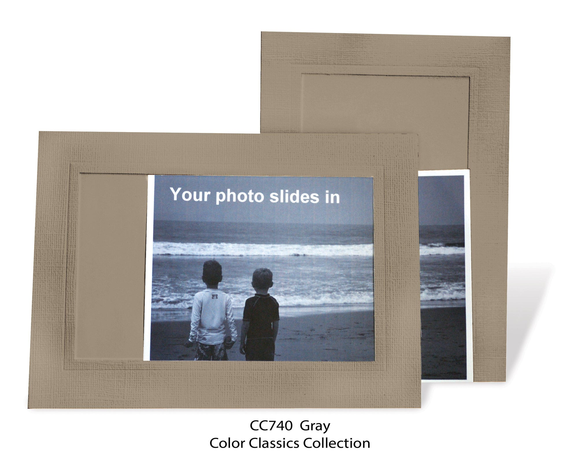 Gray #CC740-Photo note cards-Plymouth Cards