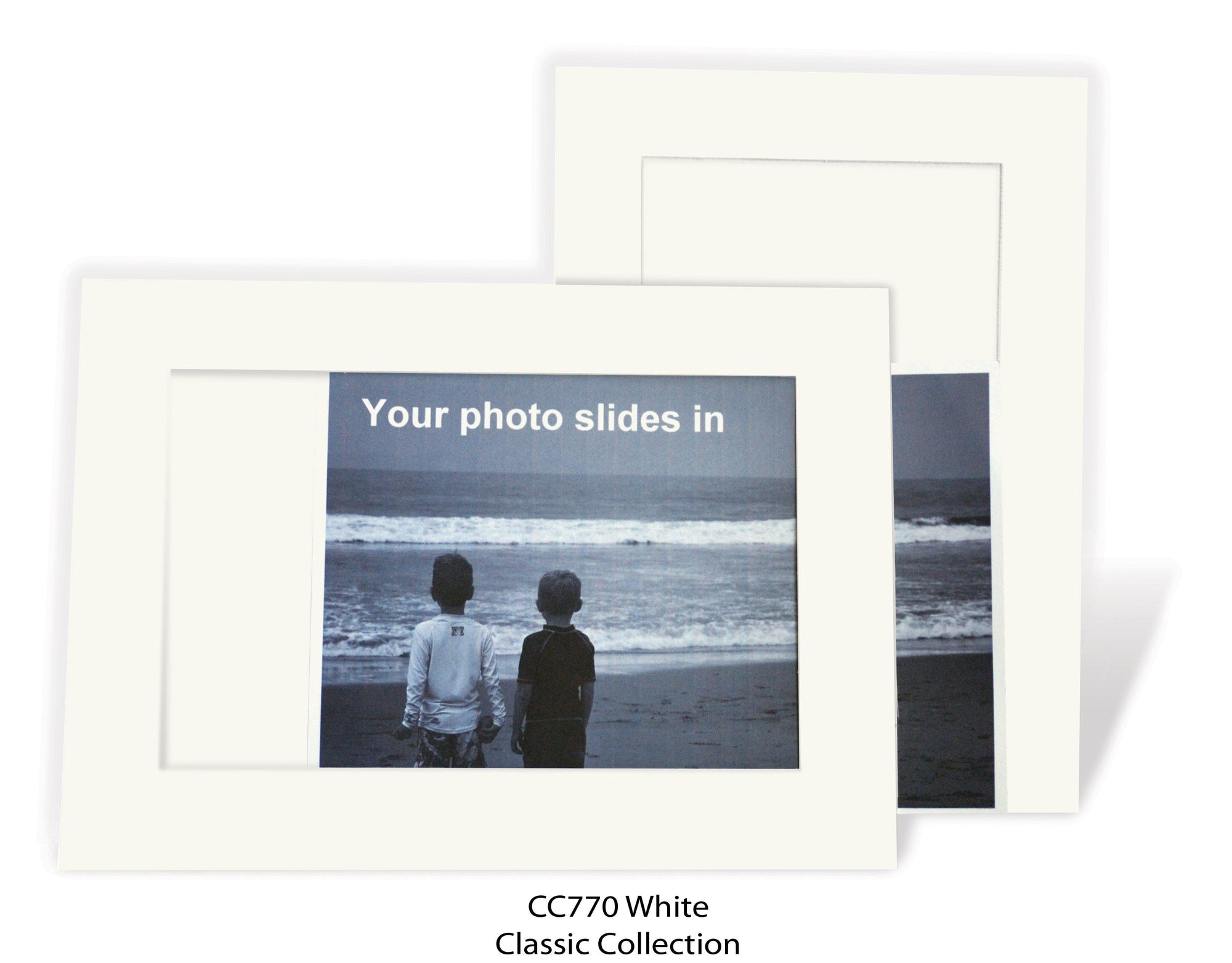 White #CC770-Photo note cards-Plymouth Cards