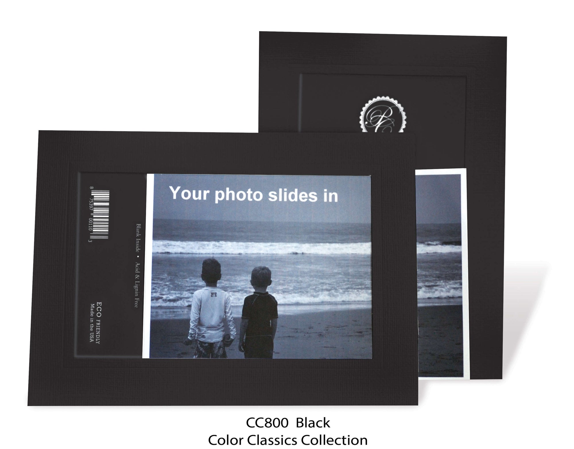 Black #CC800-Photo note cards-Plymouth Cards