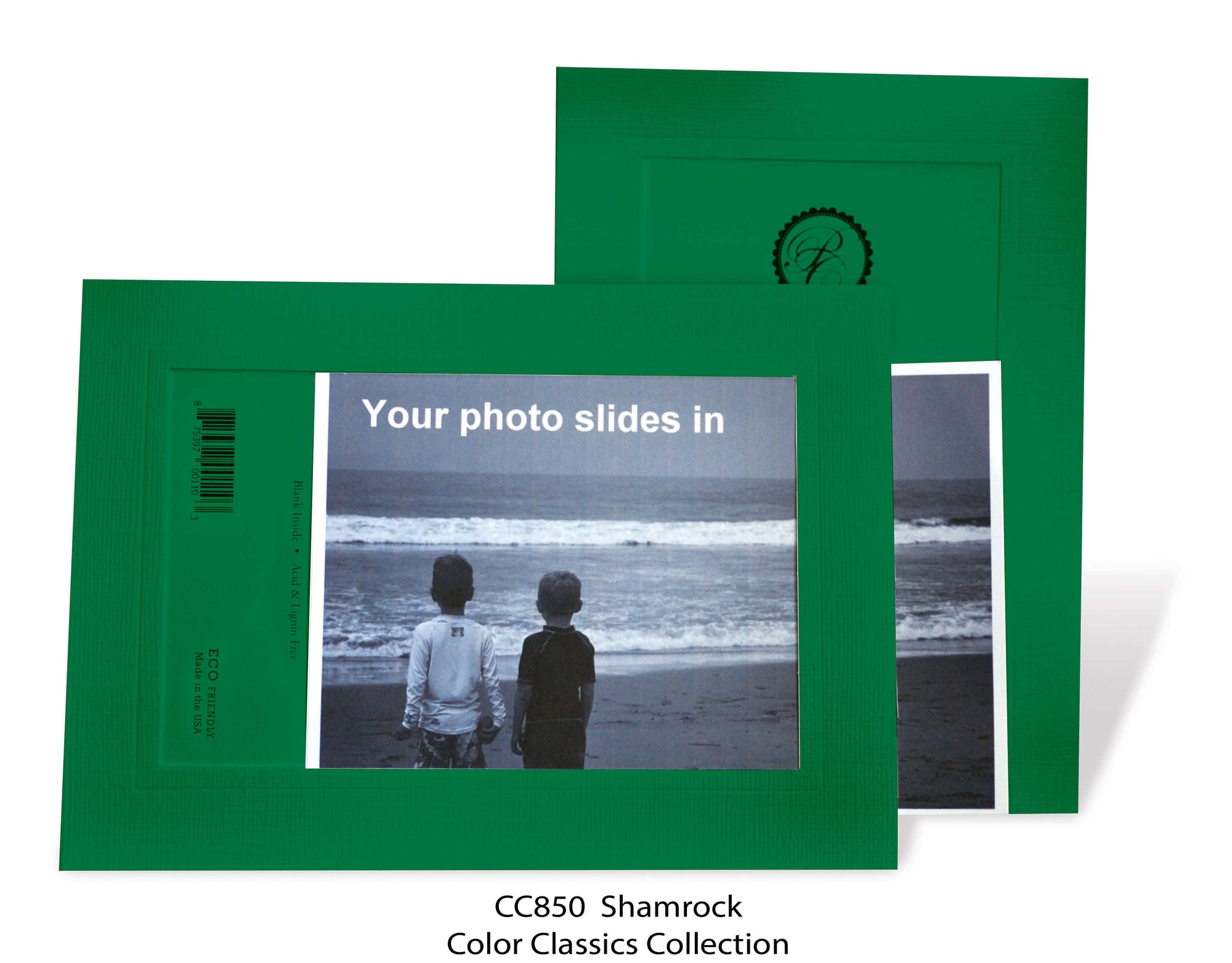 Shamrock #CC850-Photo note cards-Plymouth Cards