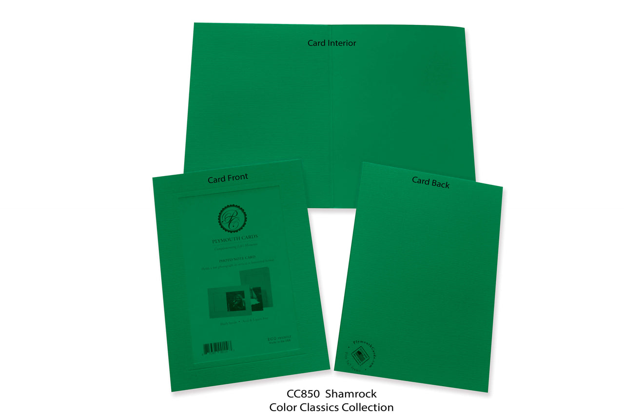 Shamrock Photo Insert Note Cards - Color Classics collection (color #CC850)