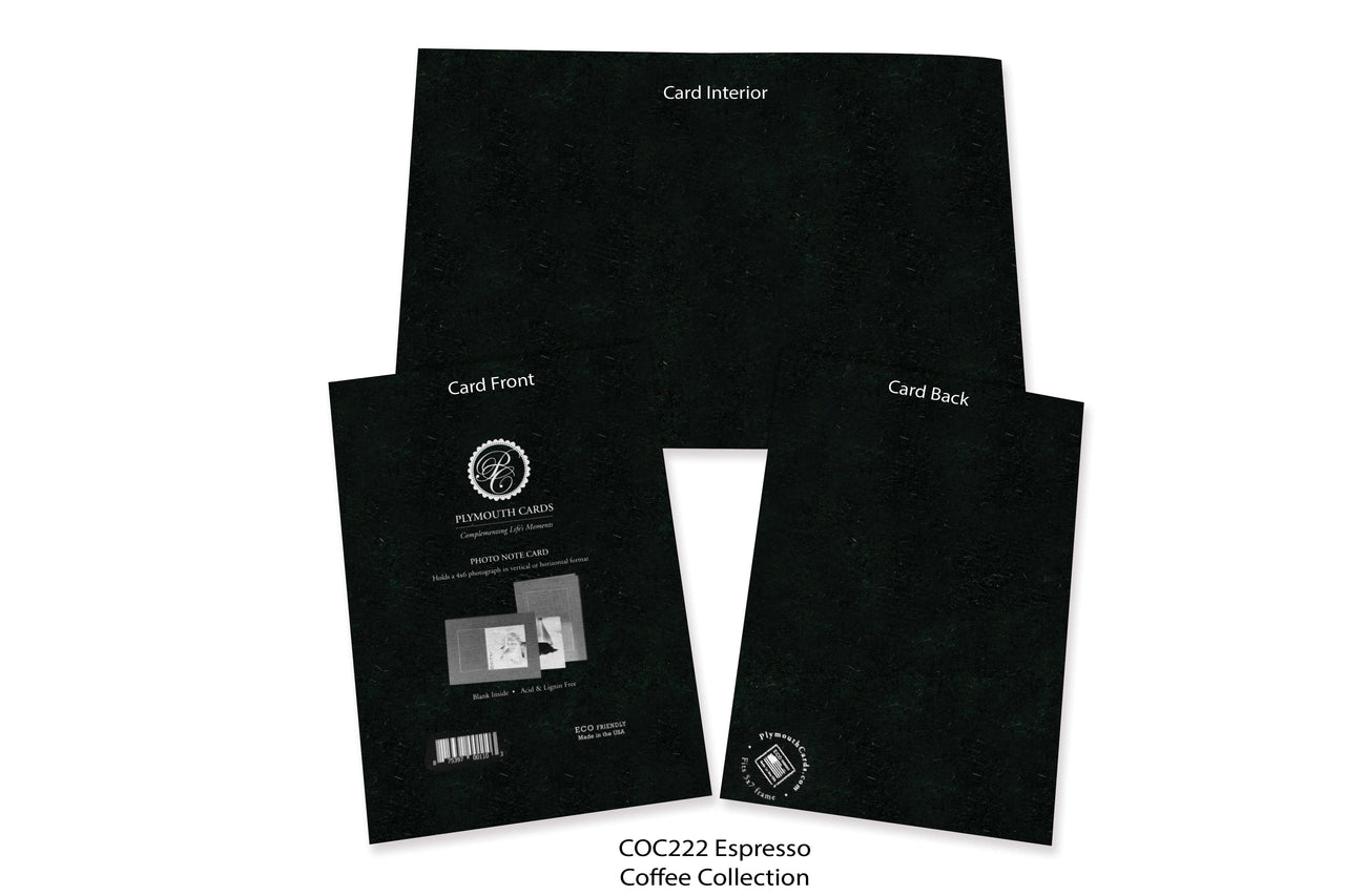 Espresso Photo Insert Note Cards - Coffee collection (color #COC222)