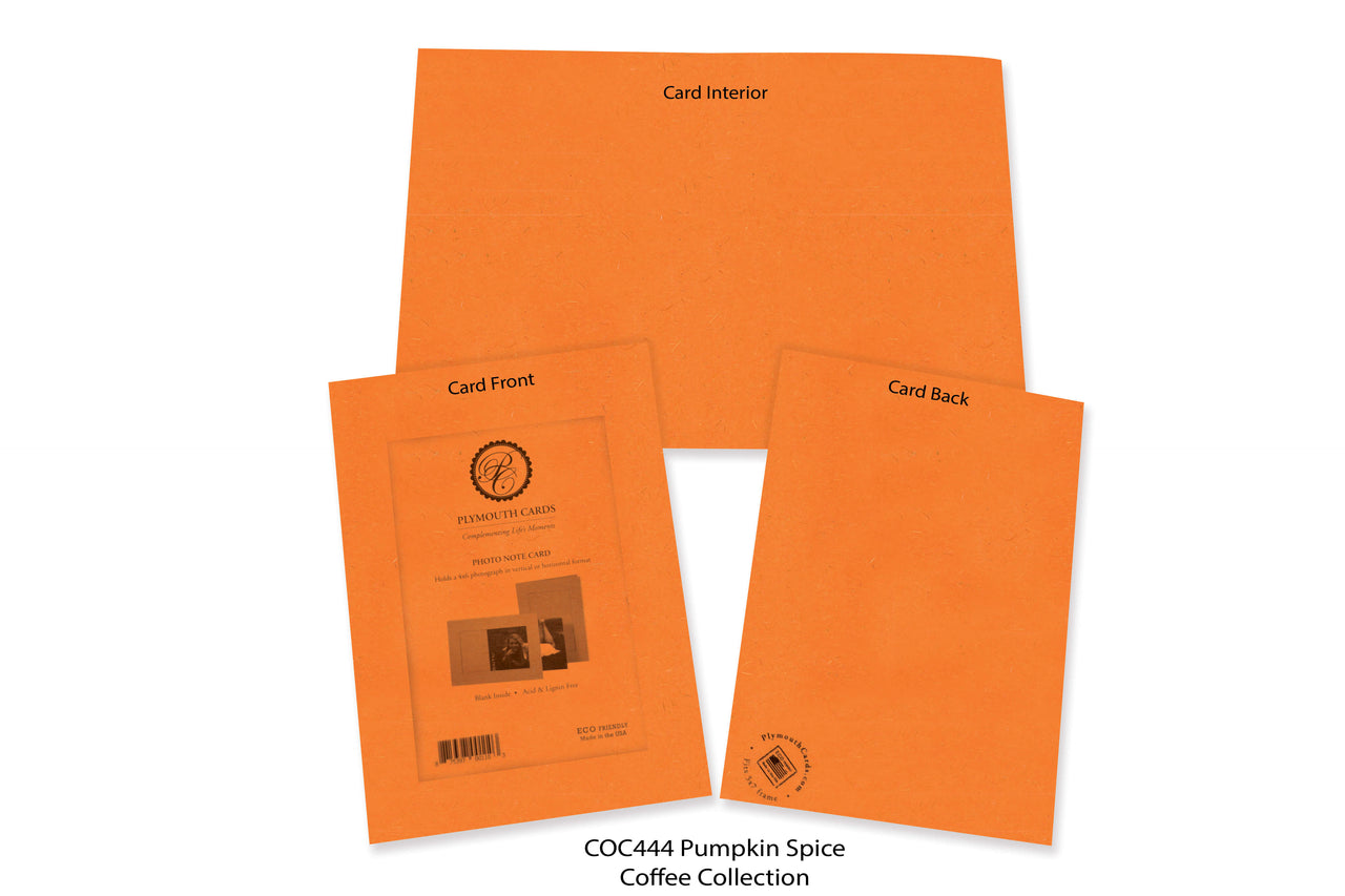 Pumpkin Spice Photo Insert Note Cards - Coffee collection (color #COC444)