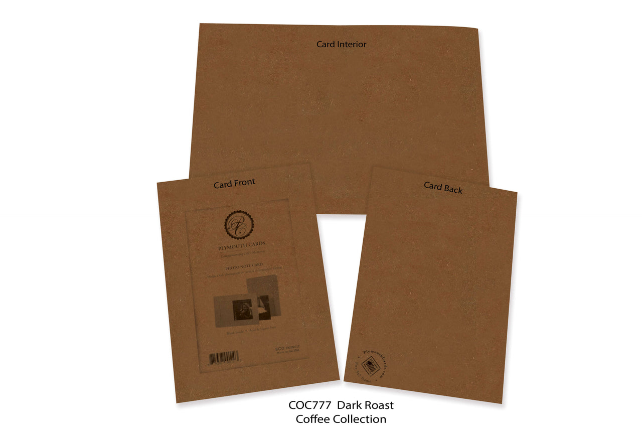 Dark Roast Photo Insert Note Cards - Coffee collection (color #COC777)