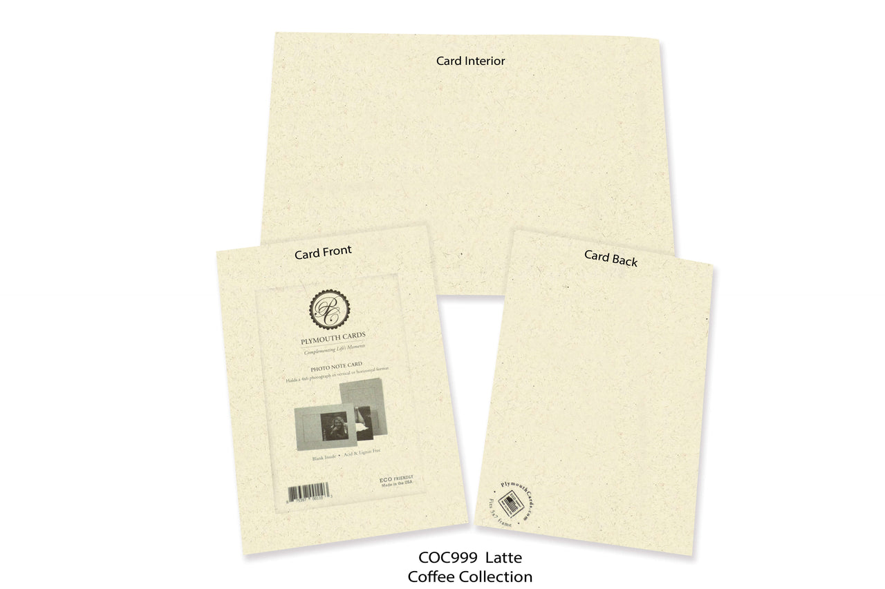 Latte Photo Insert Note Cards - Coffee collection (color #COC999)
