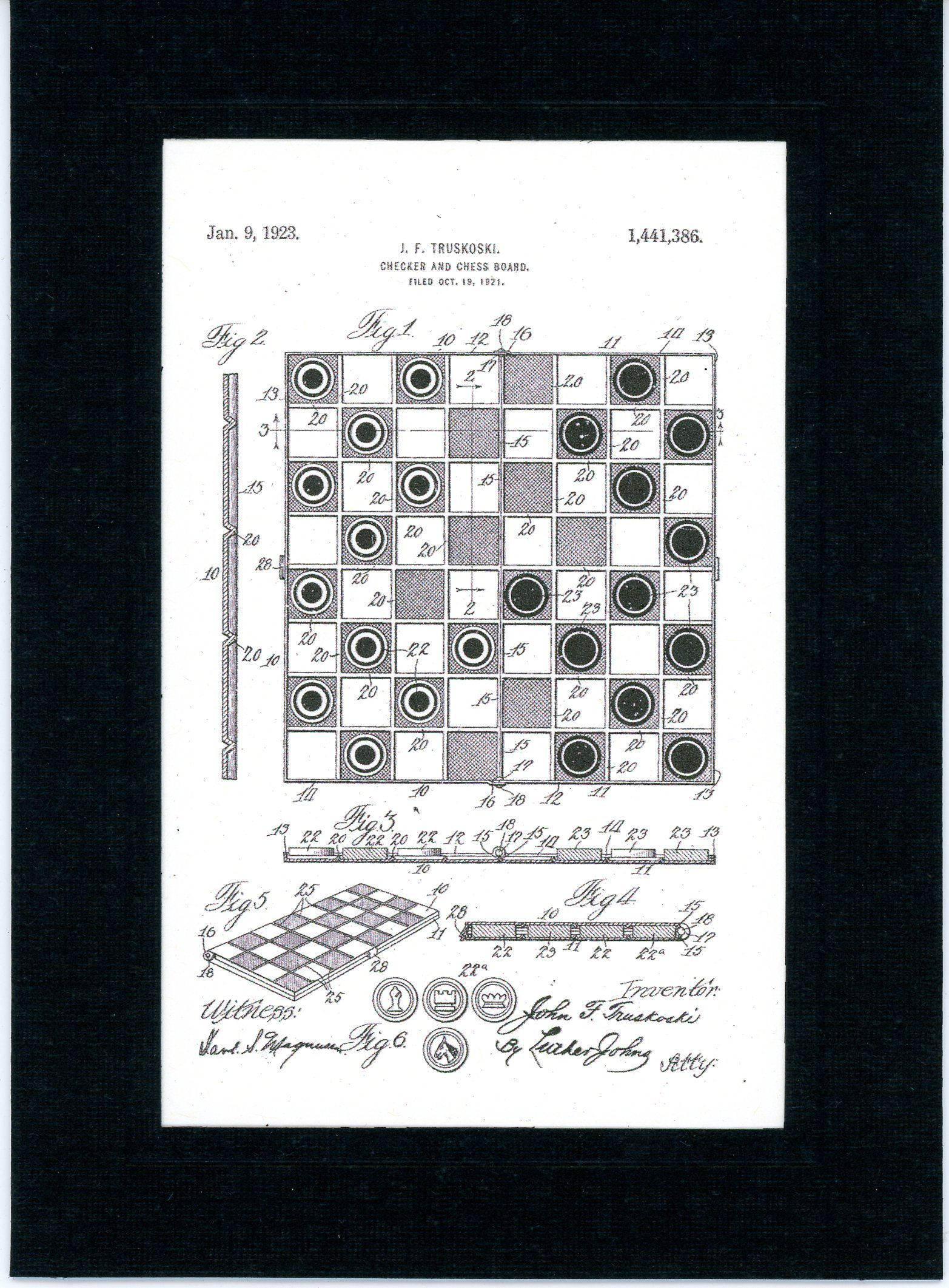 Chess and Checkerboard-Greeting Card-Plymouth Cards