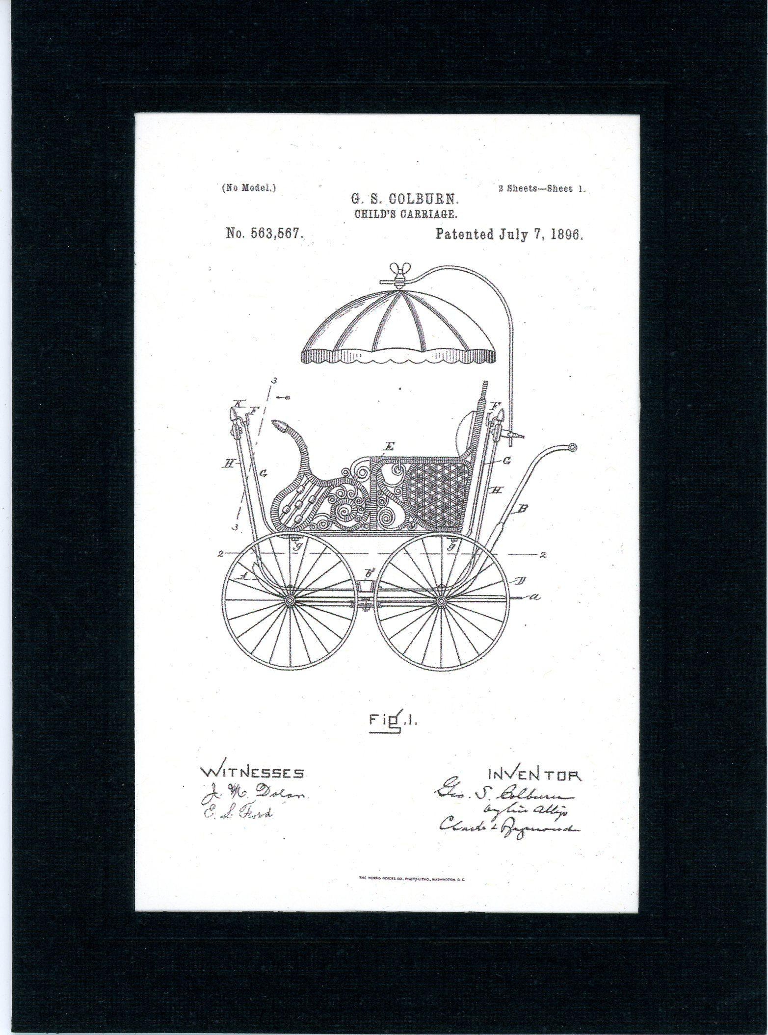 Child's Carriage-Greeting Card-Plymouth Cards