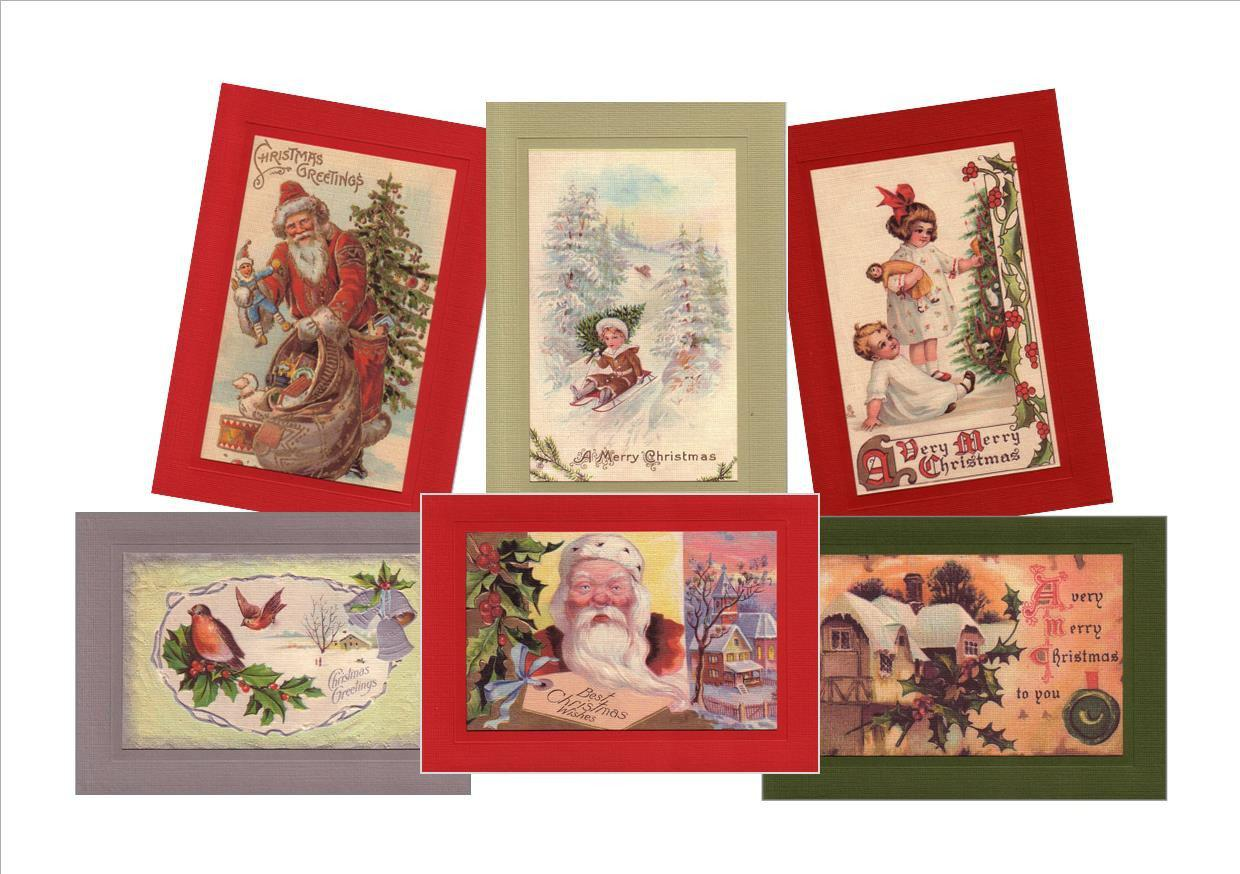 "Christmas ""Greetings from the Past"" Sampler-Greetings from the Past-Plymouth Cards"