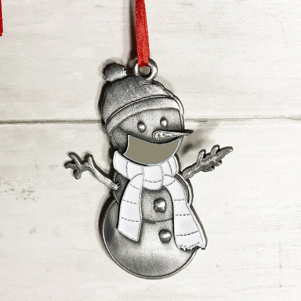 Gray Clarence the Snowman Ornament-Plymouth Cards