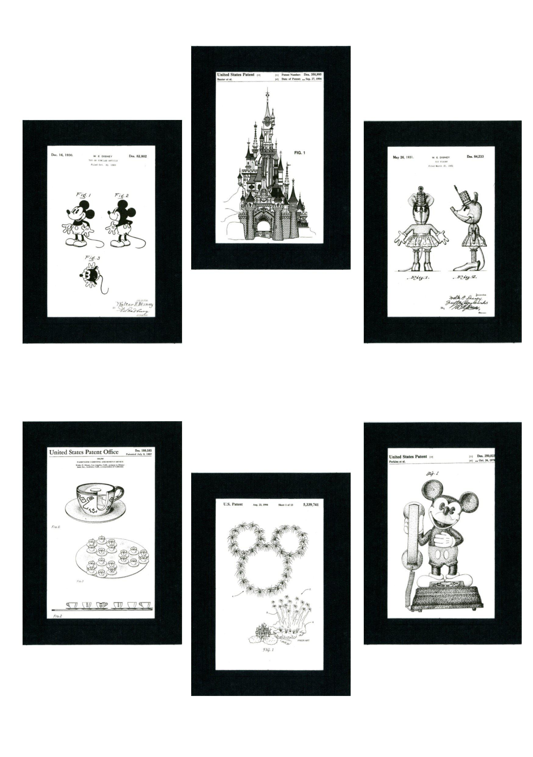 Disney 6 card set-Greeting Card-Plymouth Cards