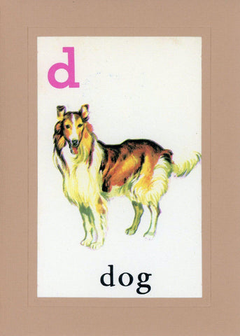 D is for Dog - PLYMOUTH CARD COMPANY  - 1
