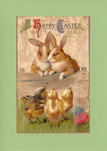 "Easter ""Greetings from the Past"" Sampler B - PLYMOUTH CARD COMPANY  - 6"