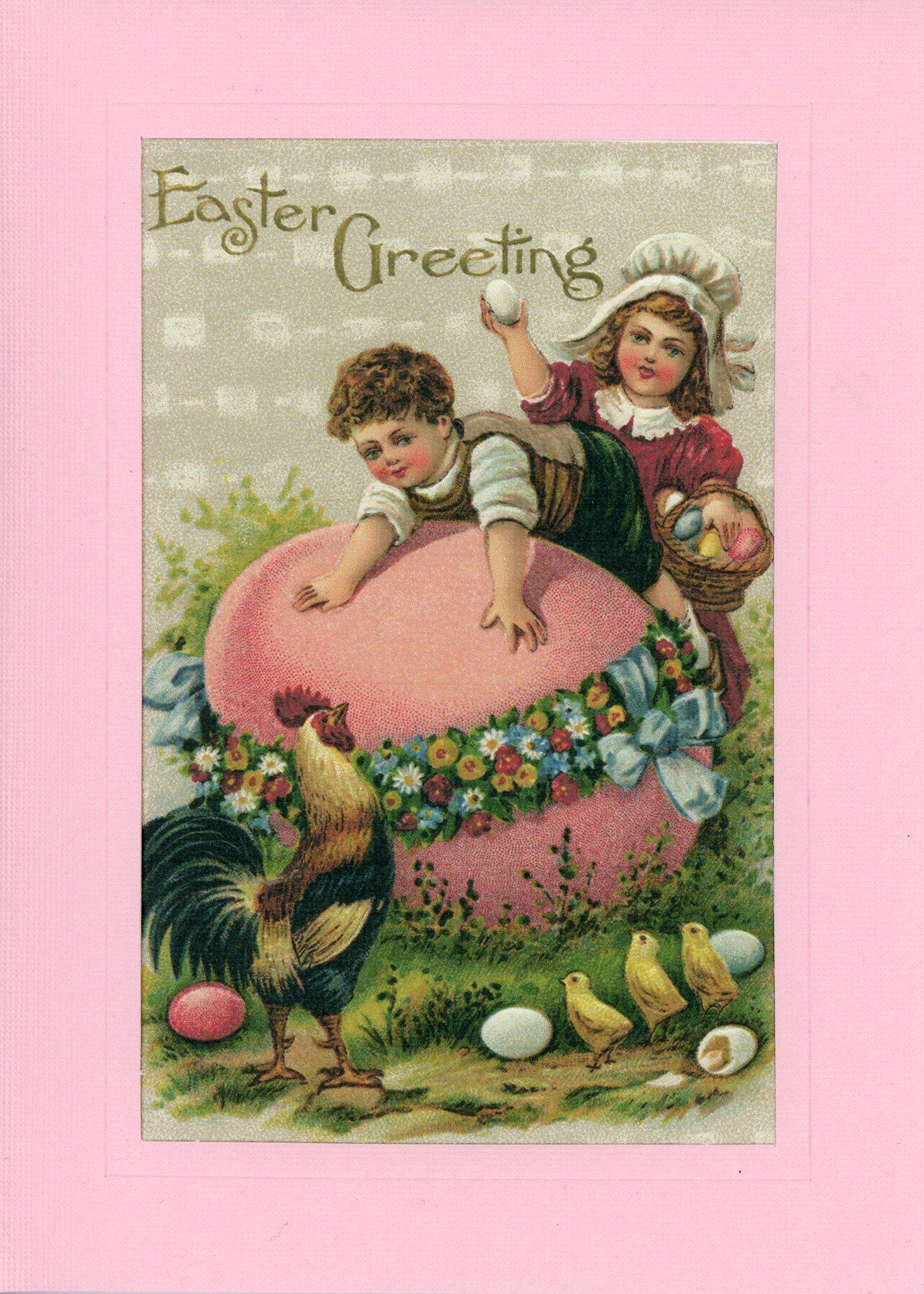 Children Easter Greetings-Greetings from the Past-Plymouth Cards