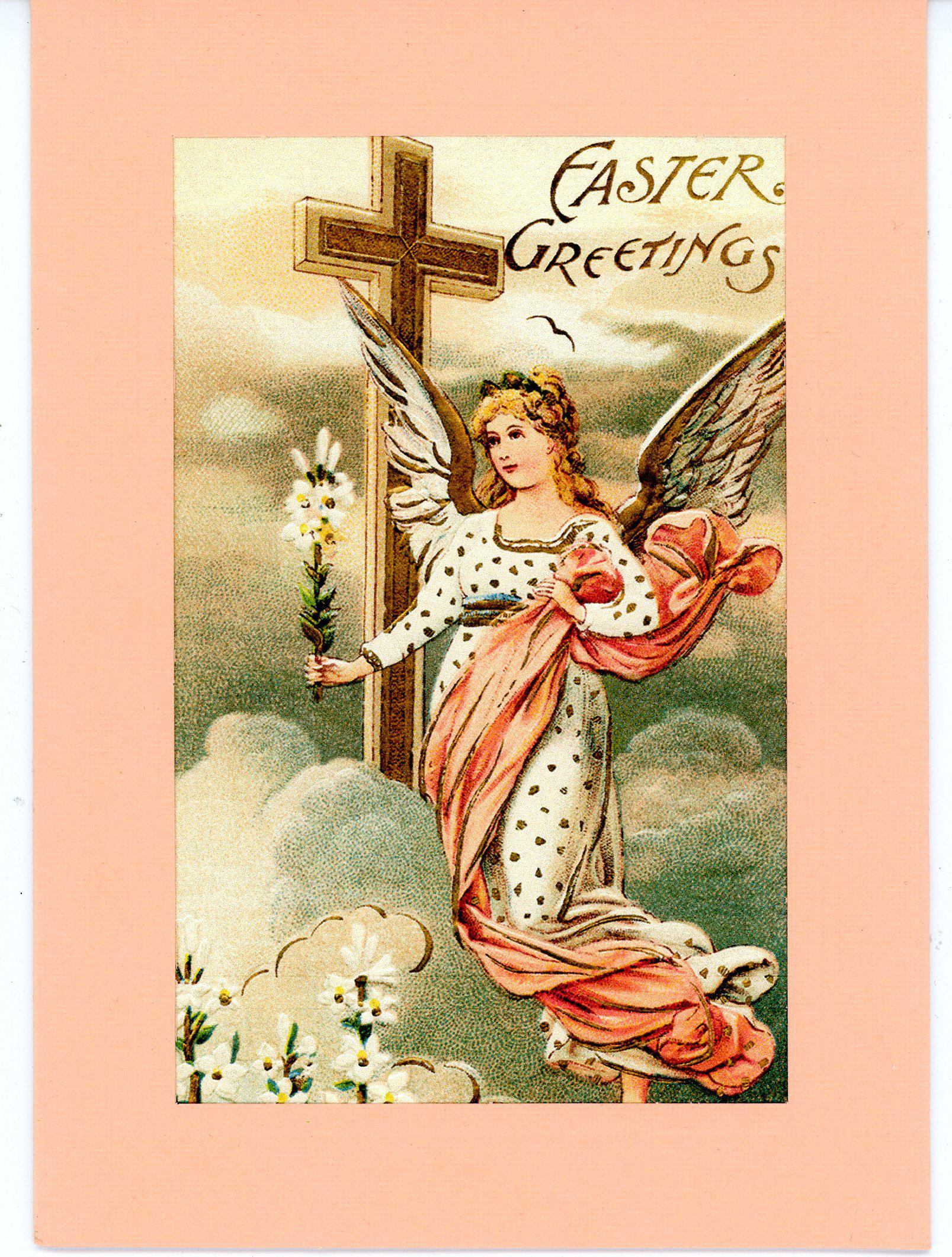 Easter Greetings with angel-Greetings from the Past-Plymouth Cards