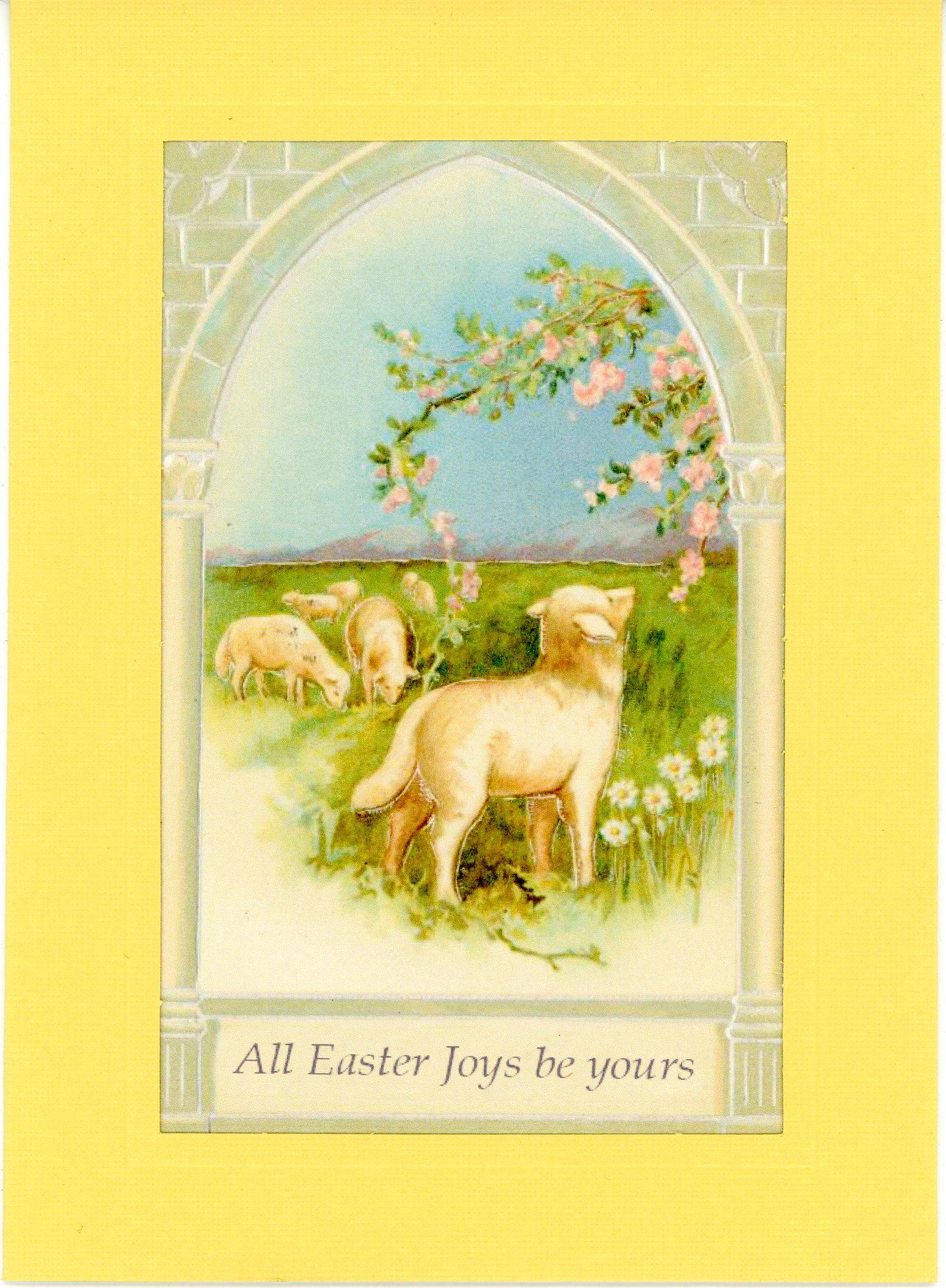 All Easter Joys be yours-Greetings from the Past-Plymouth Cards