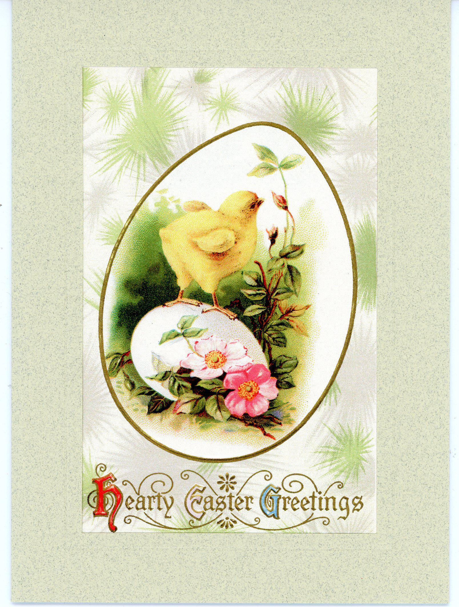 Hearty Easter Greetings-Greetings from the Past-Plymouth Cards