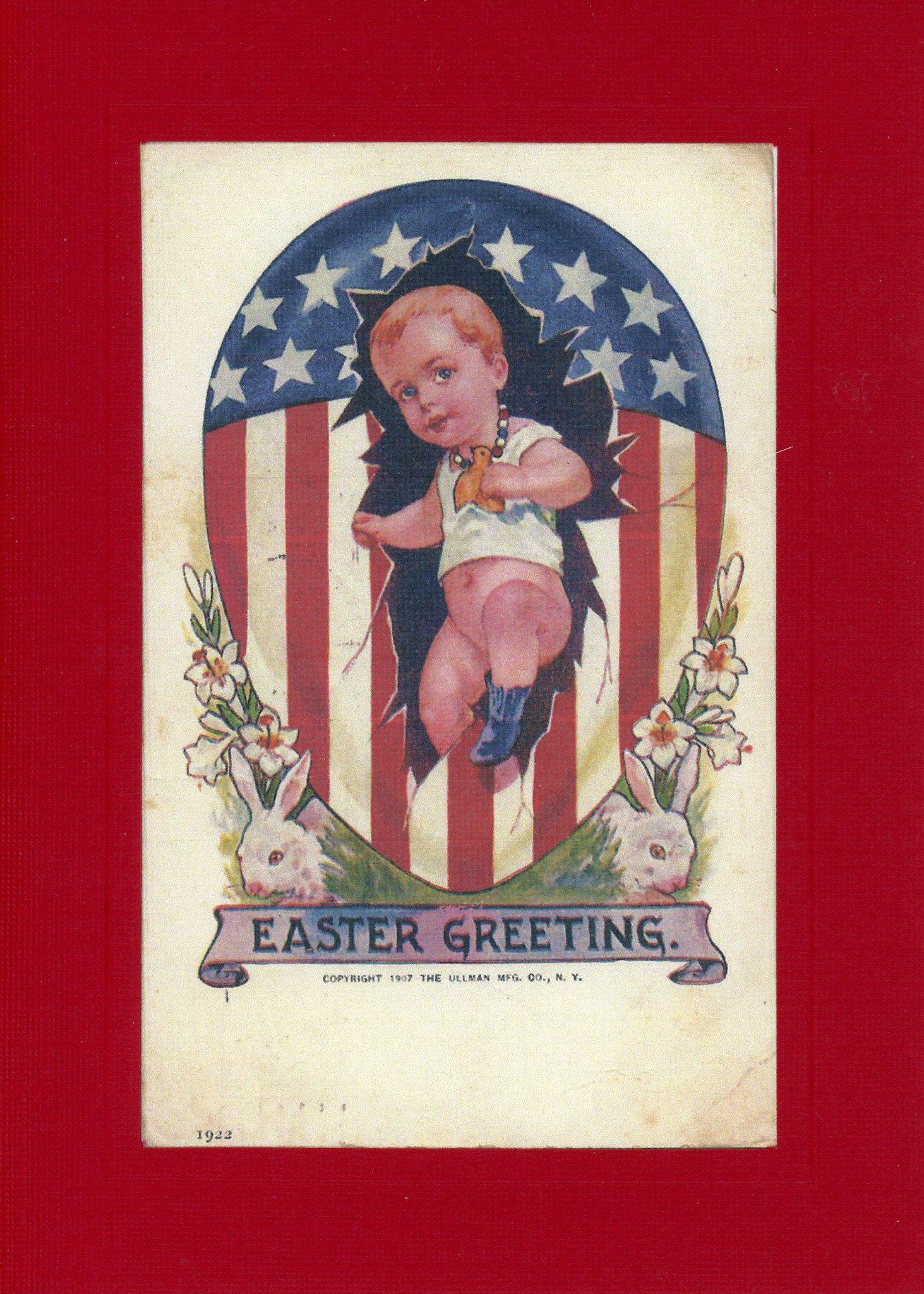 Patriotic Easter Baby-Greetings from the Past-Plymouth Cards