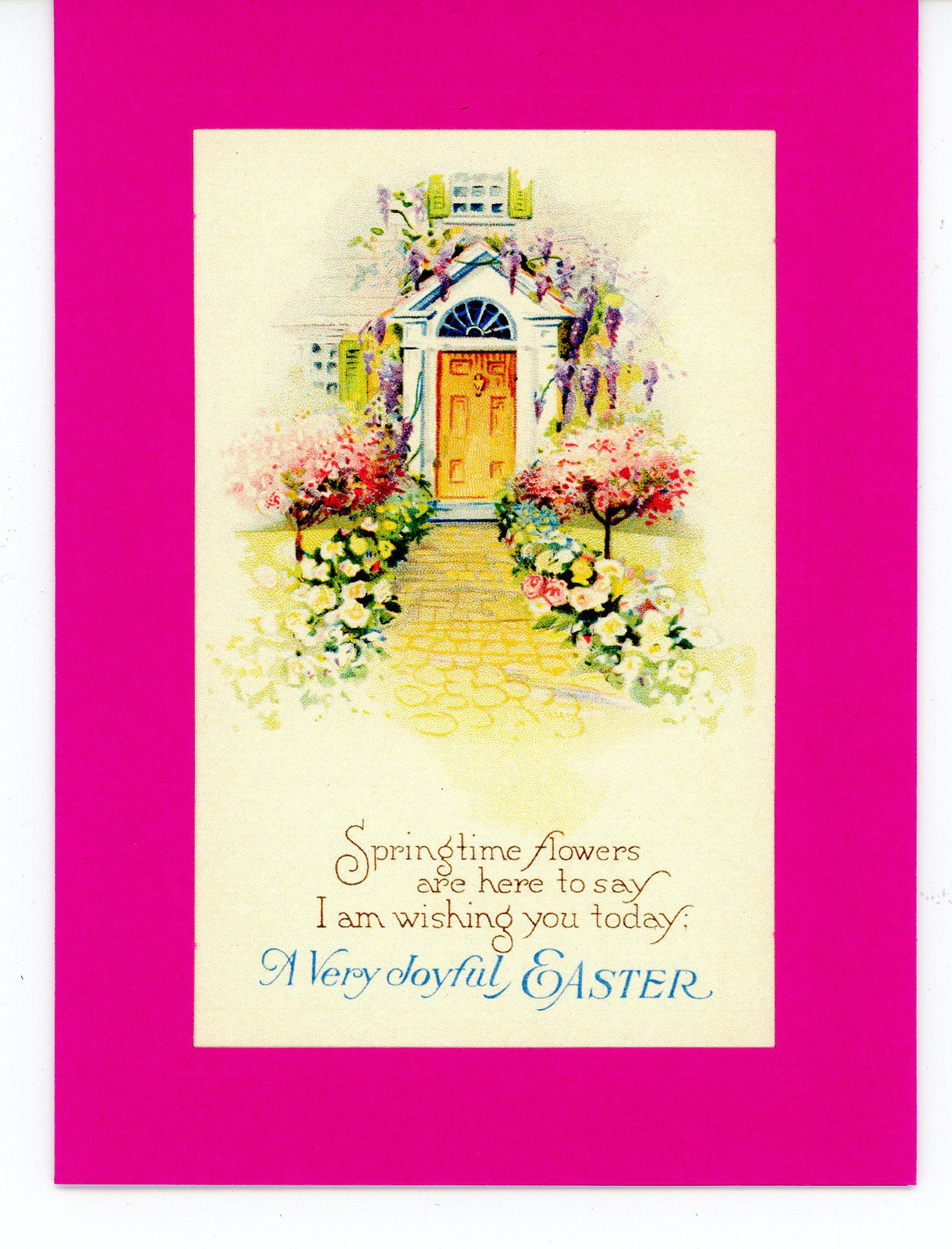 A Very Joyful Easter-Greetings from the Past-Plymouth Cards