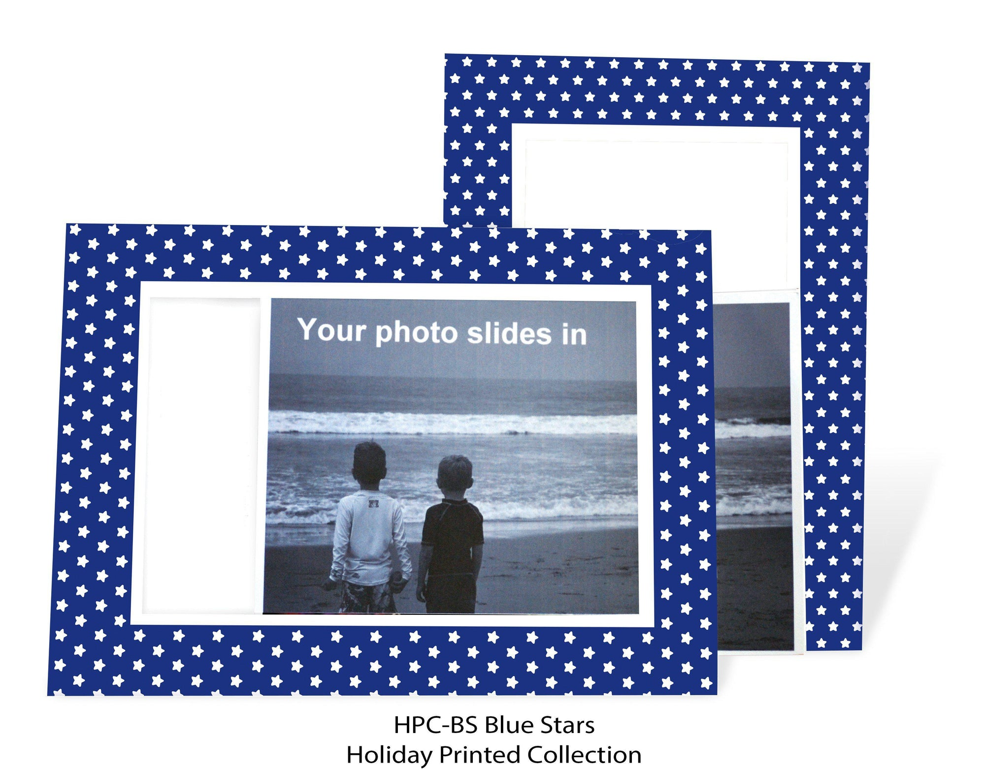 Blue Stars #EDPC-BS-Photo note cards-Plymouth Cards