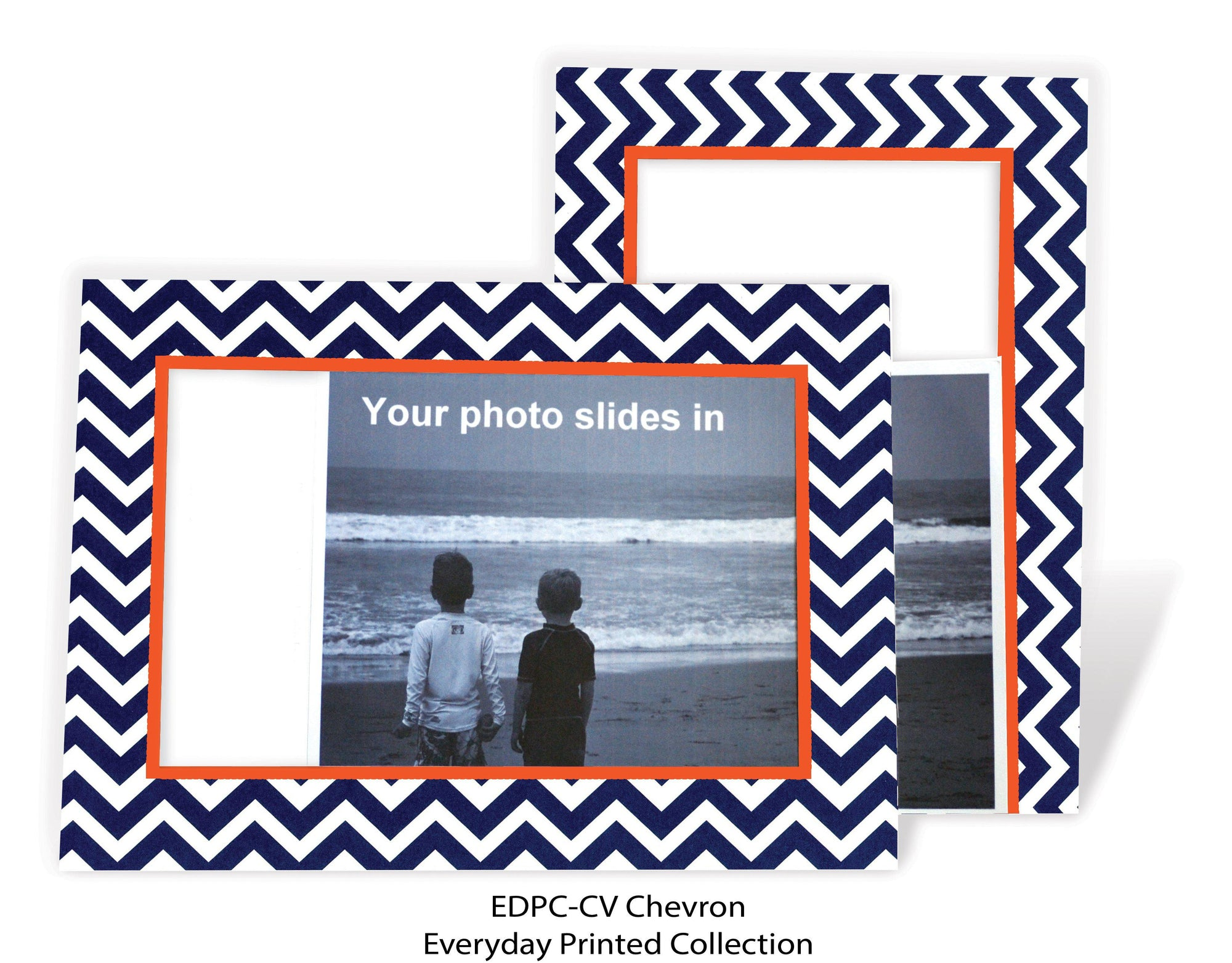 Chevron-Photo note cards-Plymouth Cards