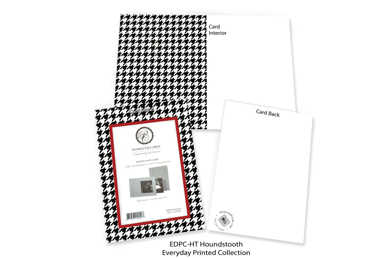 Houndstooth Photo Insert Note Cards - Everyday Printed collection (color #EDPC-HT)