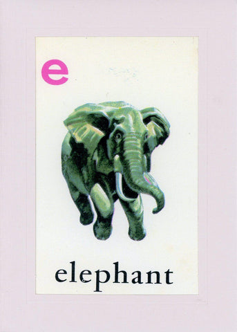 E is for Elephant - PLYMOUTH CARD COMPANY  - 1