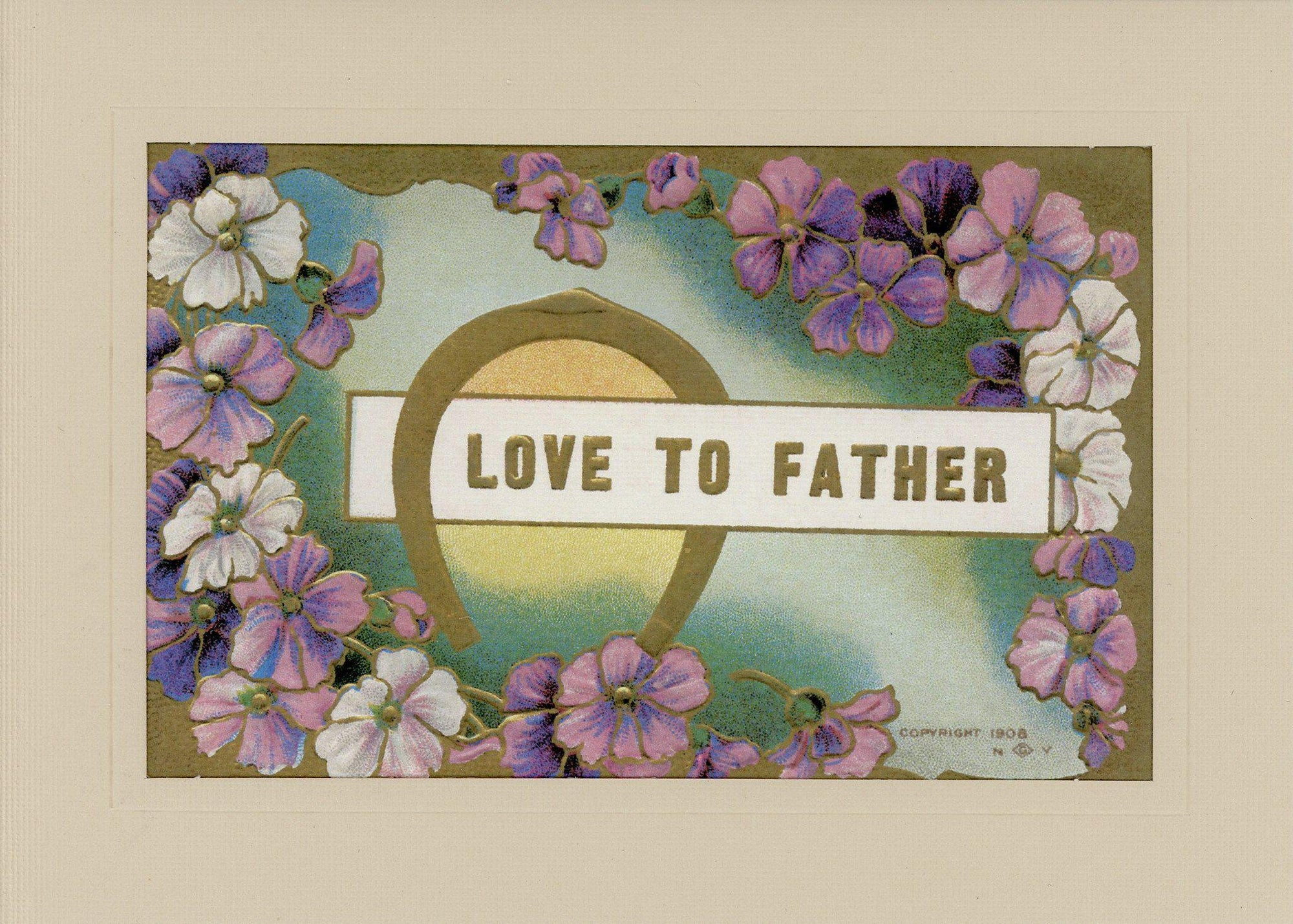 Love to Father-Greetings from the Past-Plymouth Cards