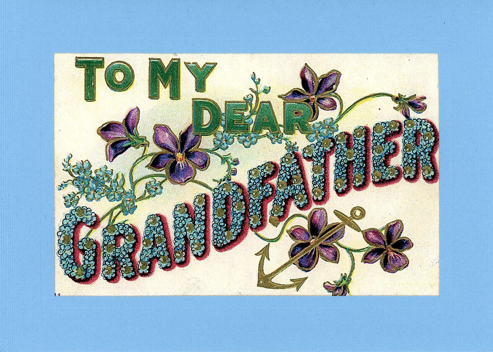 To My Dear Grandfather-Greetings from the Past-Plymouth Cards