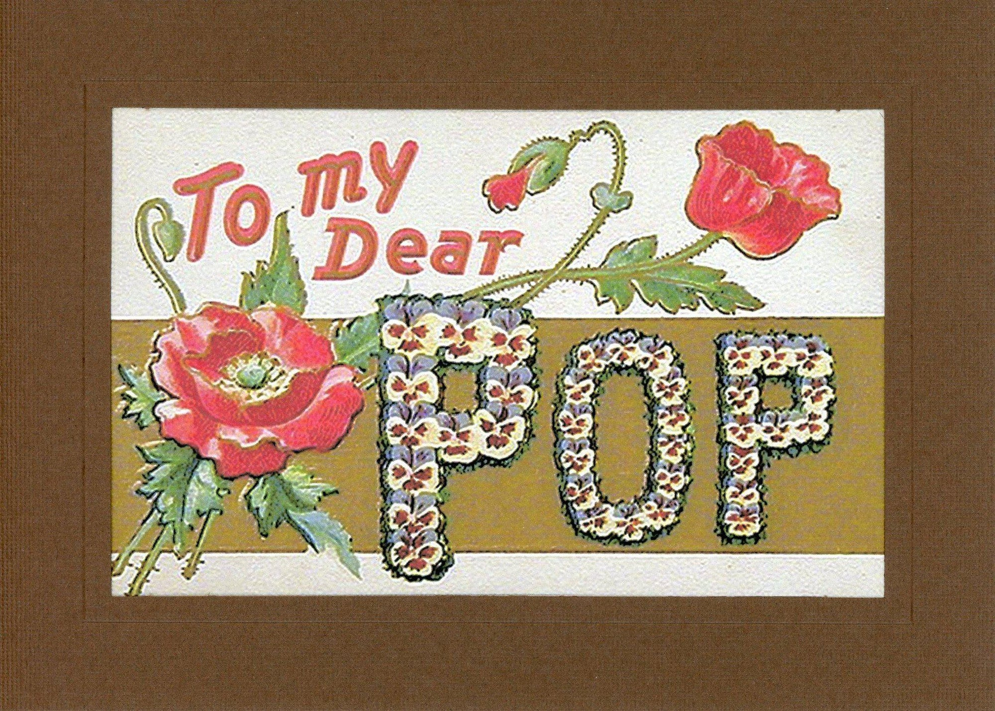 To My Dear Pop-Greetings from the Past-Plymouth Cards