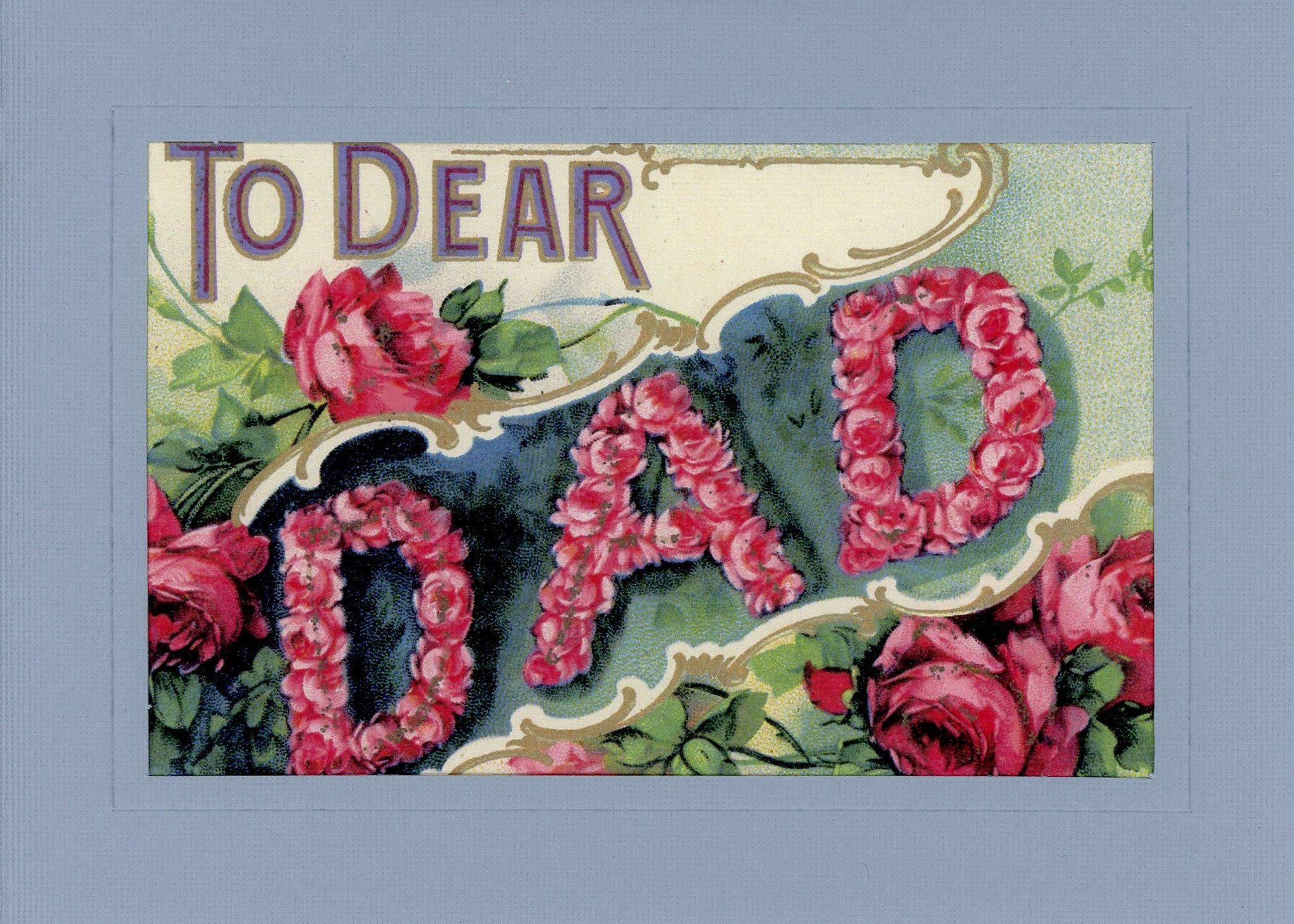 To Dear Dad-Greetings from the Past-Plymouth Cards