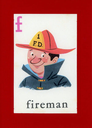 F is for Fireman - PLYMOUTH CARD COMPANY  - 1