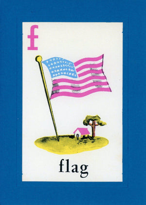 F is for Flag - PLYMOUTH CARD COMPANY  - 1