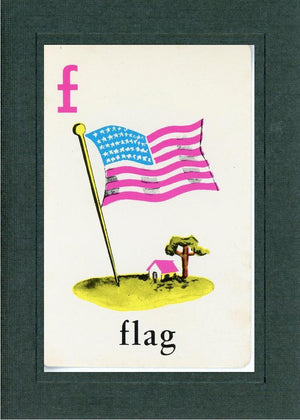 F is for Flag - PLYMOUTH CARD COMPANY  - 2