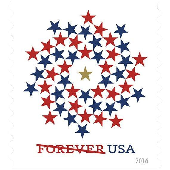 USPS Forever Stamps - Patriotic Spiral-Plymouth Cards