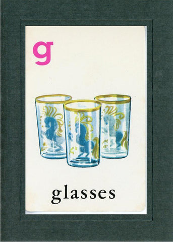 G is for Glasses - PLYMOUTH CARD COMPANY  - 1