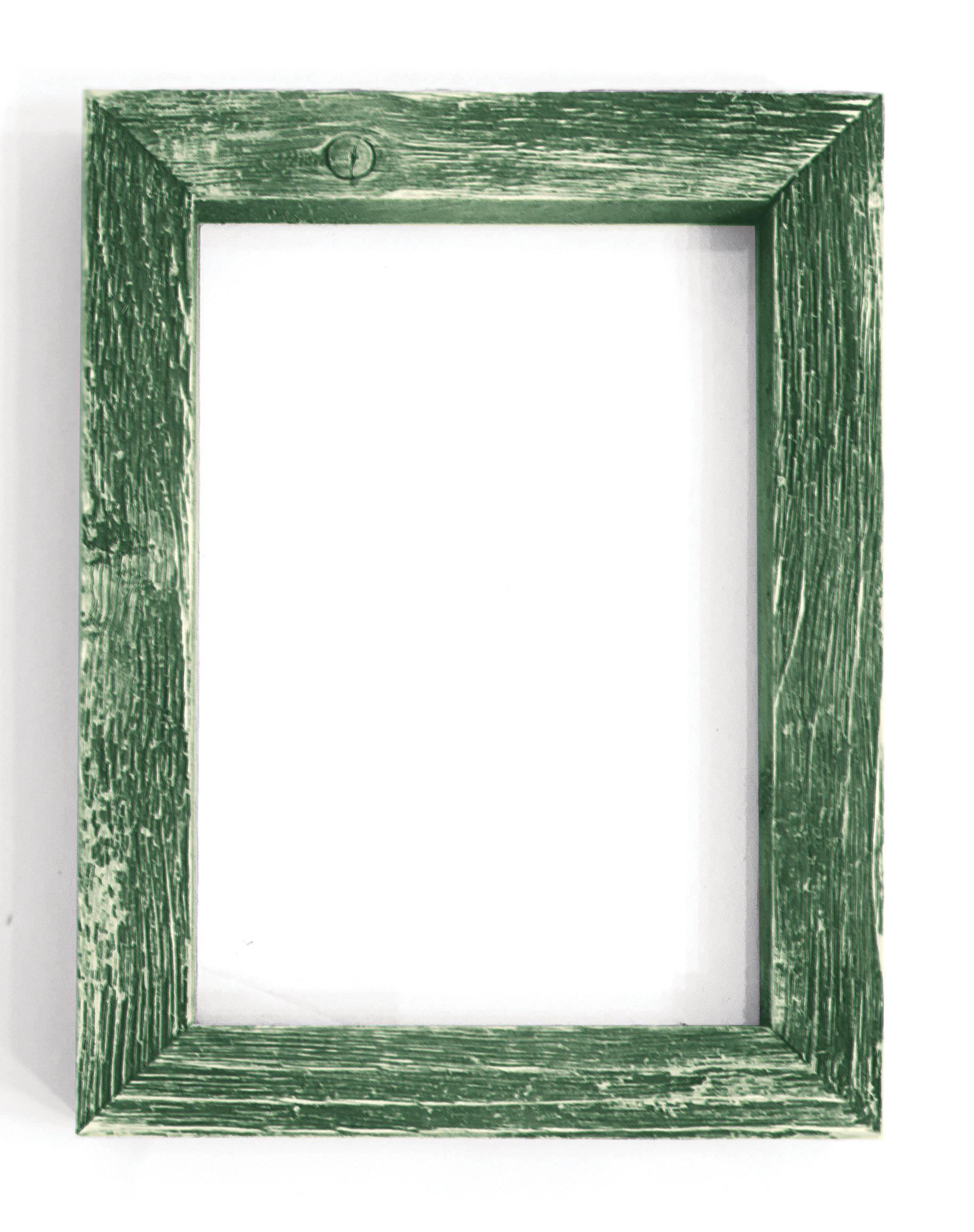 Green Rustic Picture Frame-Plymouth Cards