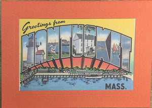 Greetings from Nantucket Postcard