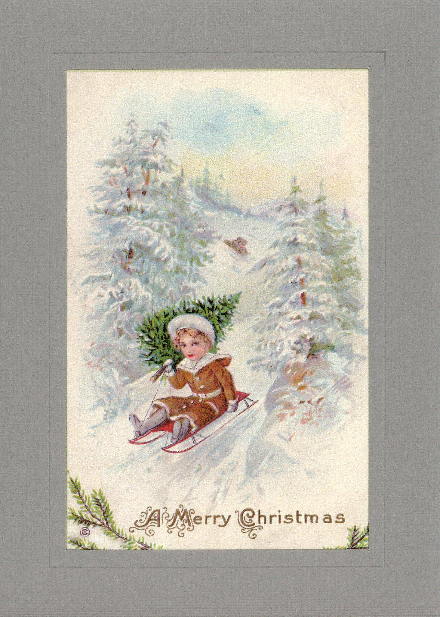 A Merry Christmas-Greetings from the Past-Plymouth Cards
