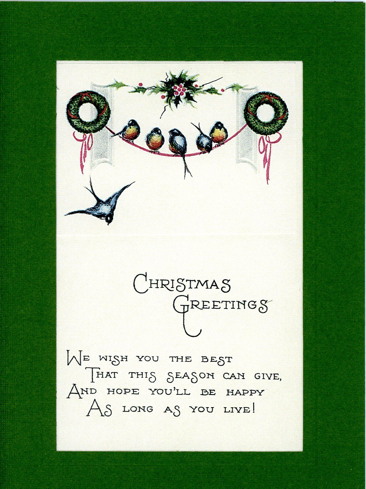 Christmas Greetings-Greetings from the Past-Plymouth Cards