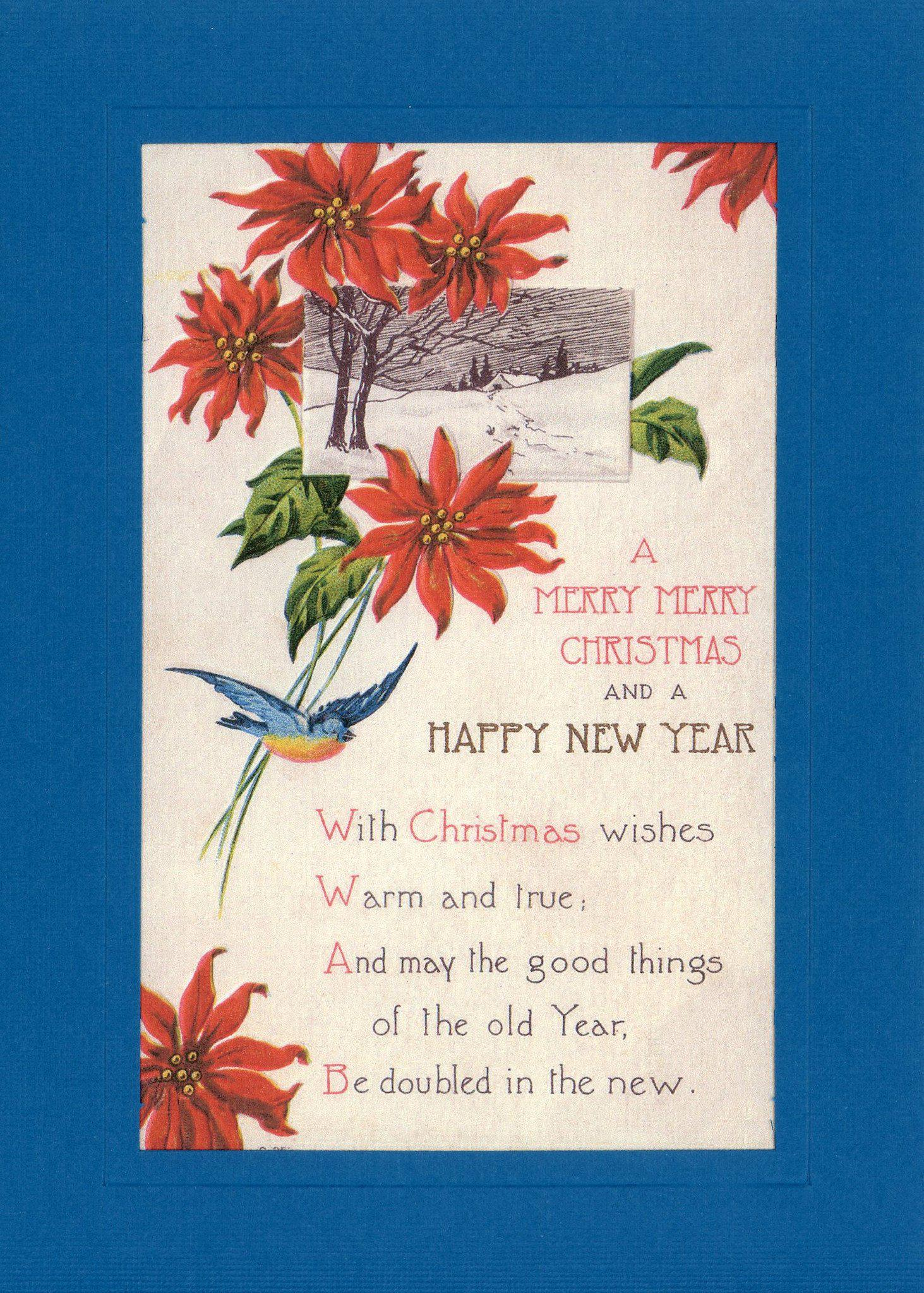 A Merry Merry Christmas and a Happy New Year-Greetings from the Past-Plymouth Cards